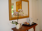 Hall mirror in guest house