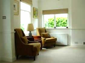 Reading area for guests at kennels cottage